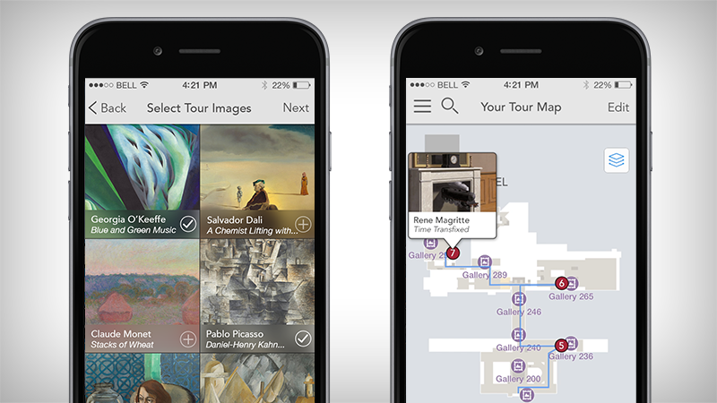 I designed an art tour app for the iPhone for the prestigious museum