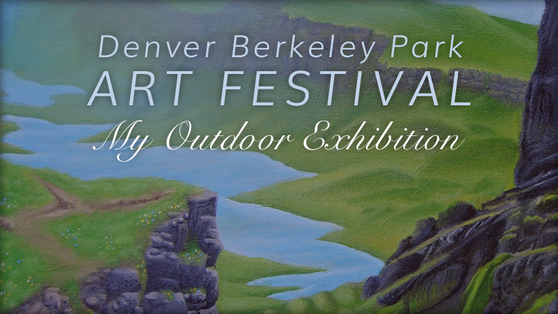 I exhibited my entire painting collection at my second outdoor art festival on June 10-11!